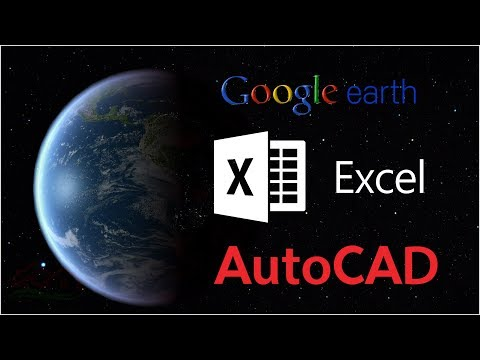 How to convert from Google earth to Excel and AutoCAD & othe