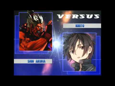 Shin Akuma(Me) Vs Kirito (CPU)