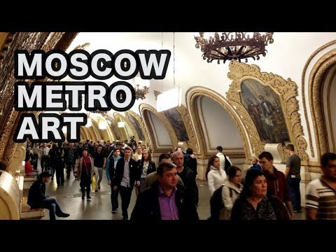 Inside Moscow's Incredibly Beautiful Metro (4K)