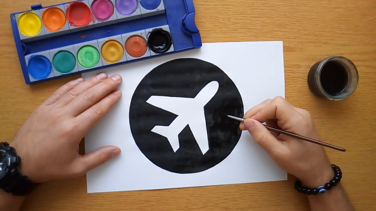 How To Draw An Airport Icon Airport Sign Youtube