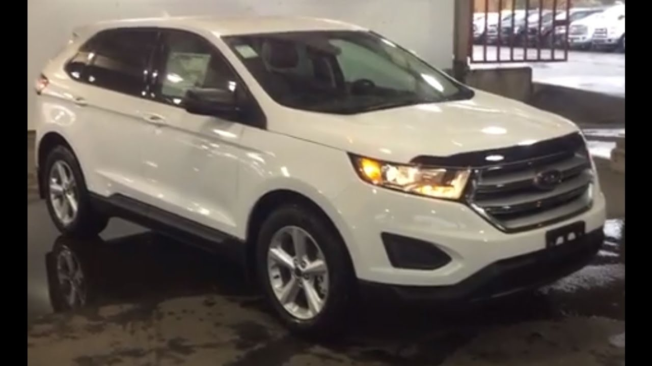 2016 White Ford Edge Se Awd Review Prince George Motors