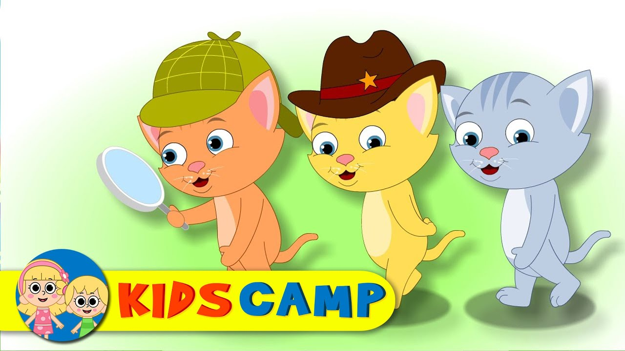 Three Little Kittens Nursery Rhymes And Kids Songs By Kidscamp Youtube
