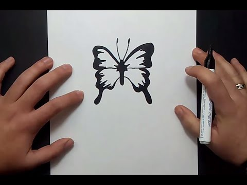 Como dibujar una mariposa paso a paso 11 | How to draw a butterfly ...