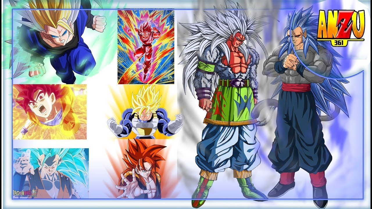 Todas Las Transformaciones De Goku Y Niveles De Poder Dragon Ball Super Z Af Gt Anzu361 Youtube