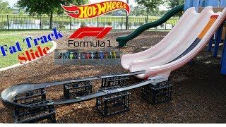 Hot Wheels fat track slide Formula 1 tournament race