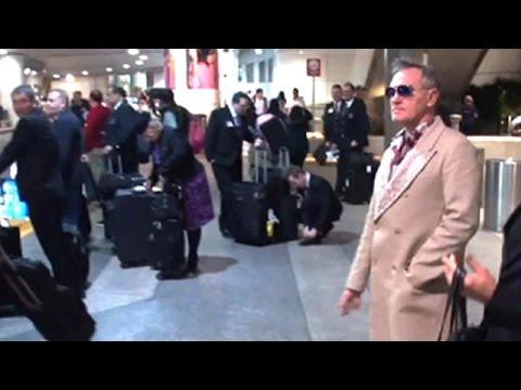 English Singer Morrissey Arrives In Los Angeles
