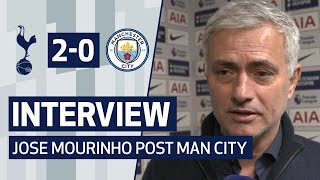 INTERVIEW | JOSE MOURINHO ON MAN CITY VICTORY AND BERGWIJN GOAL | Spurs 2-0 Man City