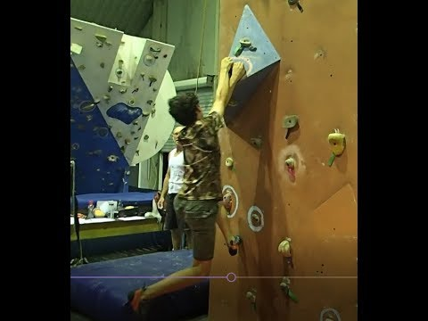 Riley Bristow at Paramount Adventure Centre Climbing Competition