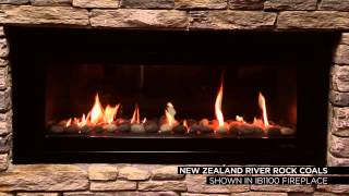Escea Gas Fires - River Rock Coals