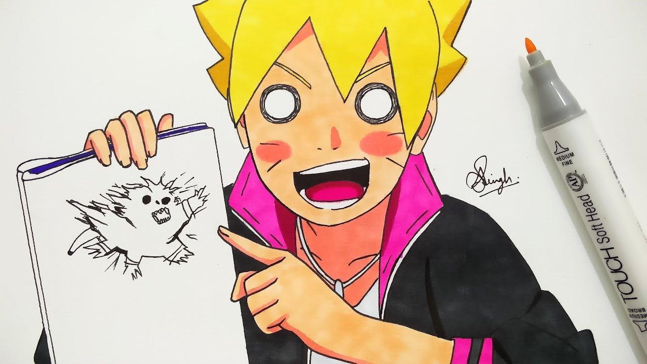 Drawing Boruto - YouTube