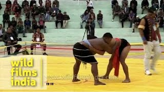 North-east Indian wrestling from Nagaland