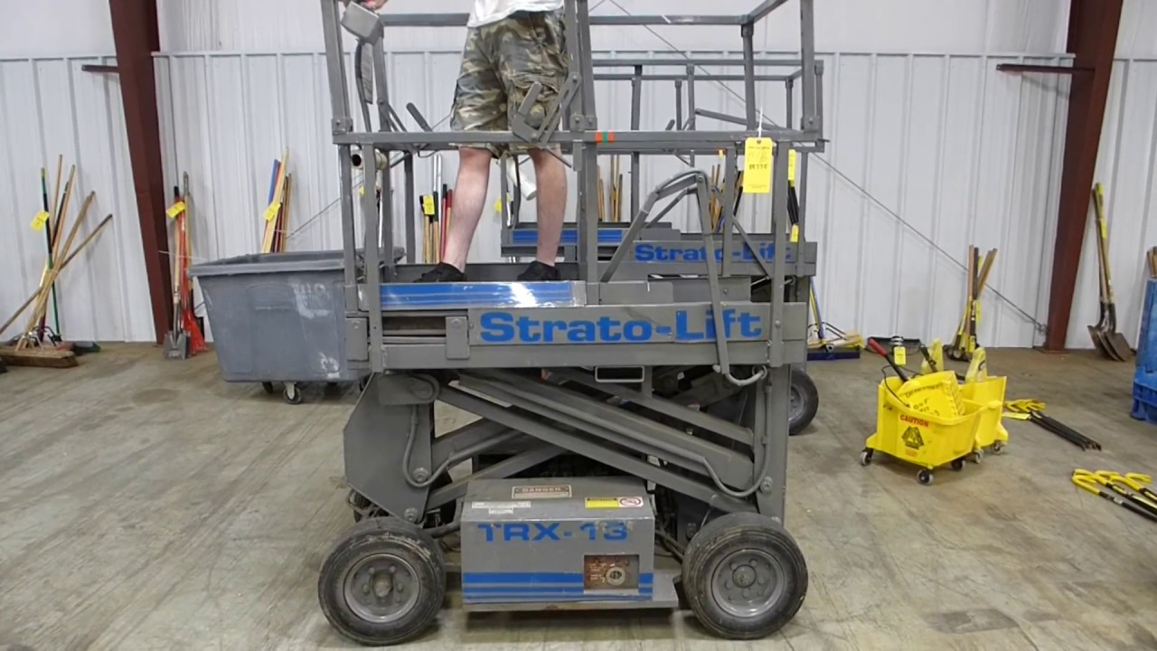 strato lift trx 13 scissor lift tag 88775 youtube rh youtube com Strato Lift Company Strato Lift Inspection Forms