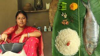 ILISH MACHER DUM BIRIYANI COOKING BY ME IN DESI VILLAGE STYLE || Hilsha Fish Dum Biriyani Recipe