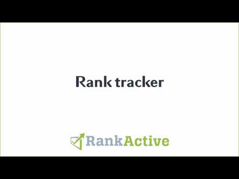 Rank tracker: product overview