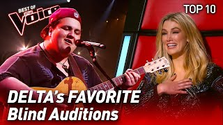TOP 10 | Delta's FAVORITE Blind Auditions in The Voice