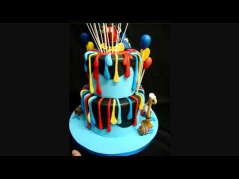 Epic Mickey Fondant Birthday Cake