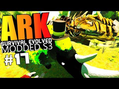 ARK Survival Evolved - BIONIC TEK GIGA TAMING, RHINO WARDEN BOSS Modded #17 (ARK Mods Gameplay)