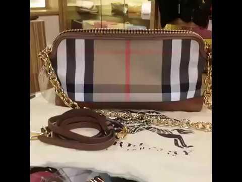 1d68152a3e BURBERRY House Check & Leather Clutch Bag - YouTube