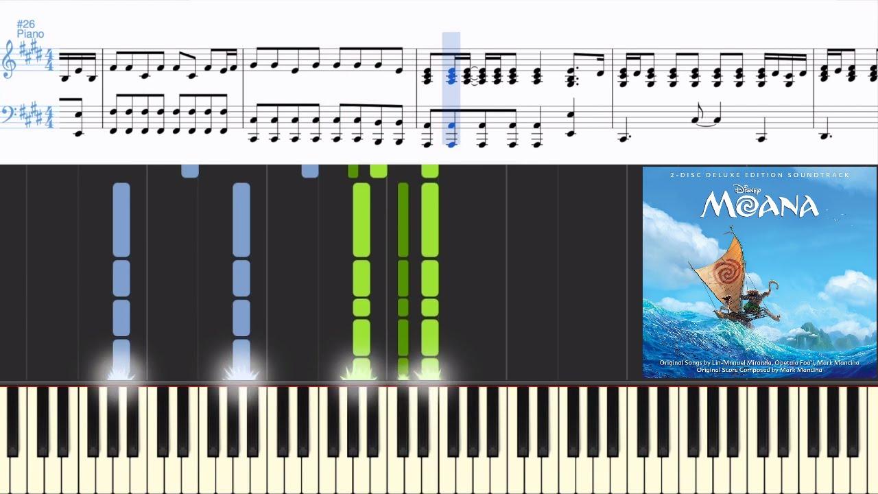 Moana Instrumental Aulii Cravalho How Far Ill Go Synthesia Piano Tutorial