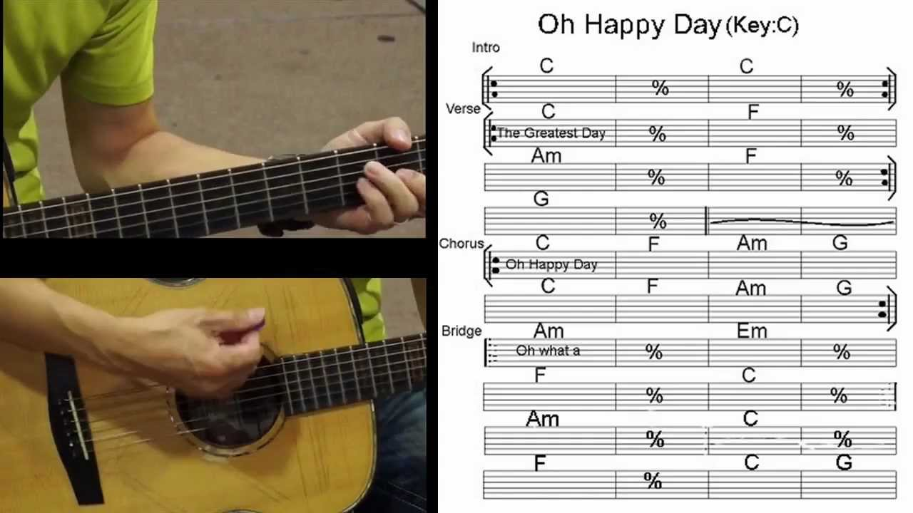 Happy Day Tim Hughes Acoustic Guitar Cover Youtube
