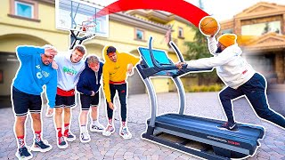 Make The Basketball Shot On Running Treadmill Challenge w/ 2Hype!