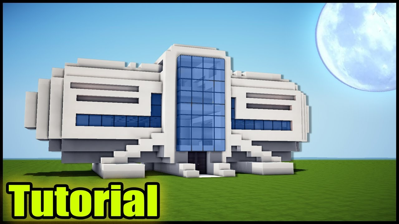 Modern Architecture House Minecraft minecraft: modern house tutorial - how to build a house in