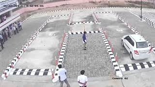 Computerised Testing Track @ RTO, Karur, developed by MKCE - Installed Camera Video - H Track