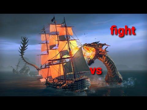 Battleship 2 vs sea unicorn war in tempest pirate action RPG |