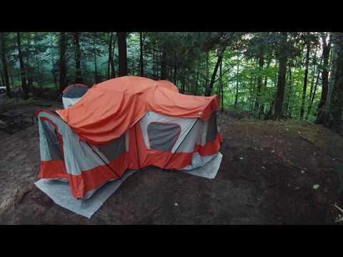 Ozark Trail Base Camp Tent - Setup Time lapse