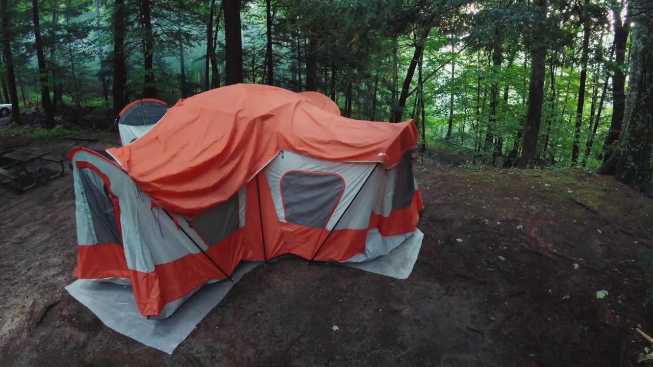 ozark trail base camp tent setup time lapse youtube