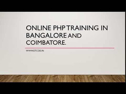Online PHP Training in bangalore and Coimbatore-etcoe.in
