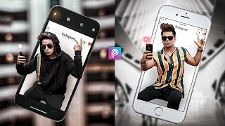 PicsArt 3D Mobile Boy Creative Photo Editing tutorial in picsart Step by Step in Hindi - Viral edit