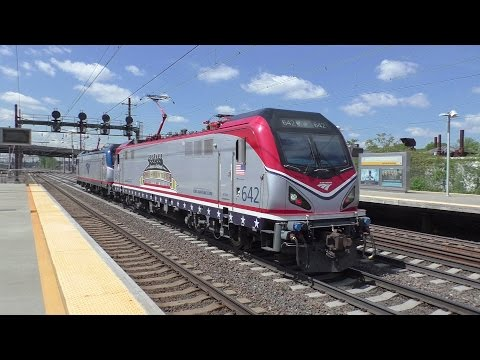Amtrak HD 60fps: Northeast Corridor Afternoon Action @ Newark Airport w/ Circus Train (5/10/17)