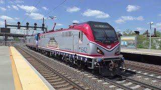 Amtrak HD 60fps: Northeast Corridor Afternoon Action @ Newark Airport w/ Circus Train (5/10/17)