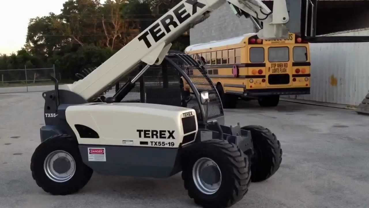 Royal Crane Terex Tx55 19 Rt Tele Forklift Youtube