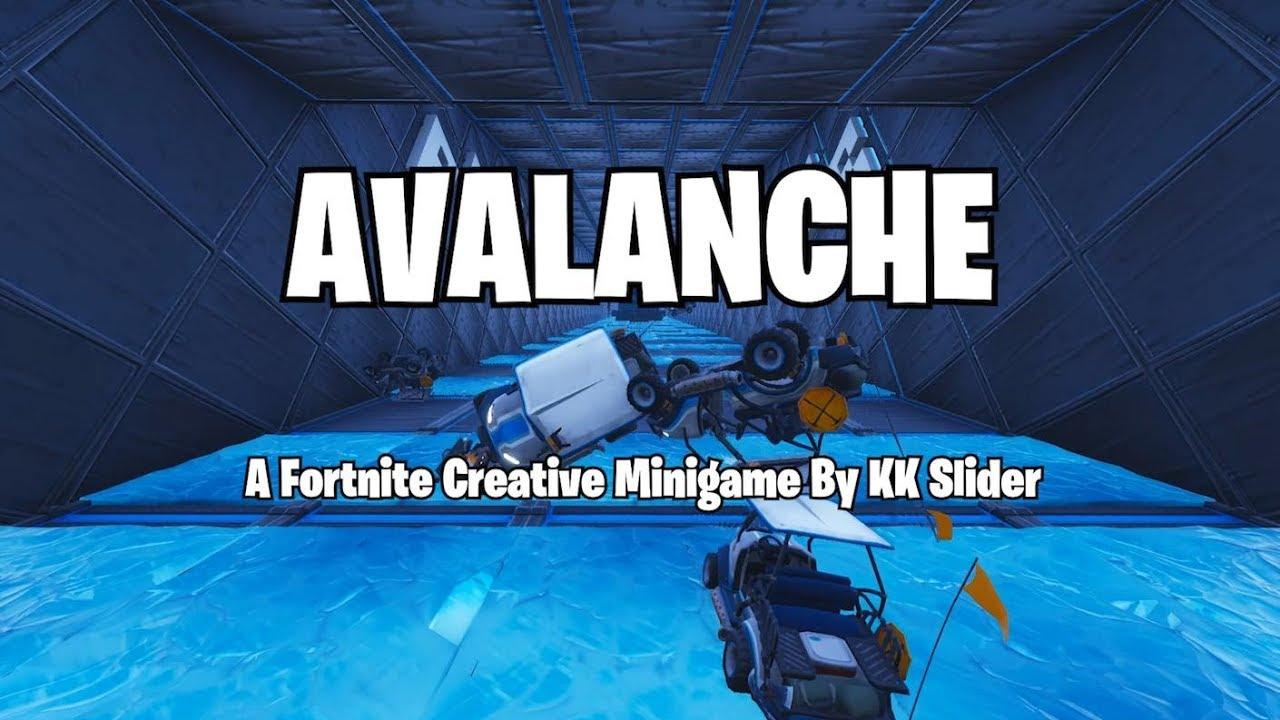 avalanche official trailer a fortnite creative minigame code in description video mas popular - five nights at freddys fortnite creative code