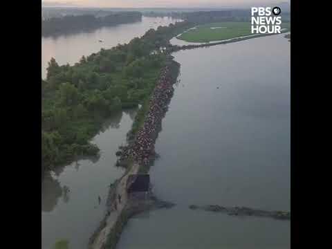 Done footage shows Rohingya refugees entering Bangladesh