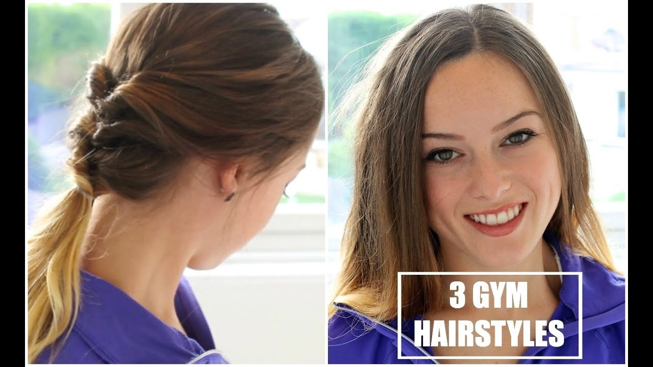 3 quick & easy heatless gym hairstyles