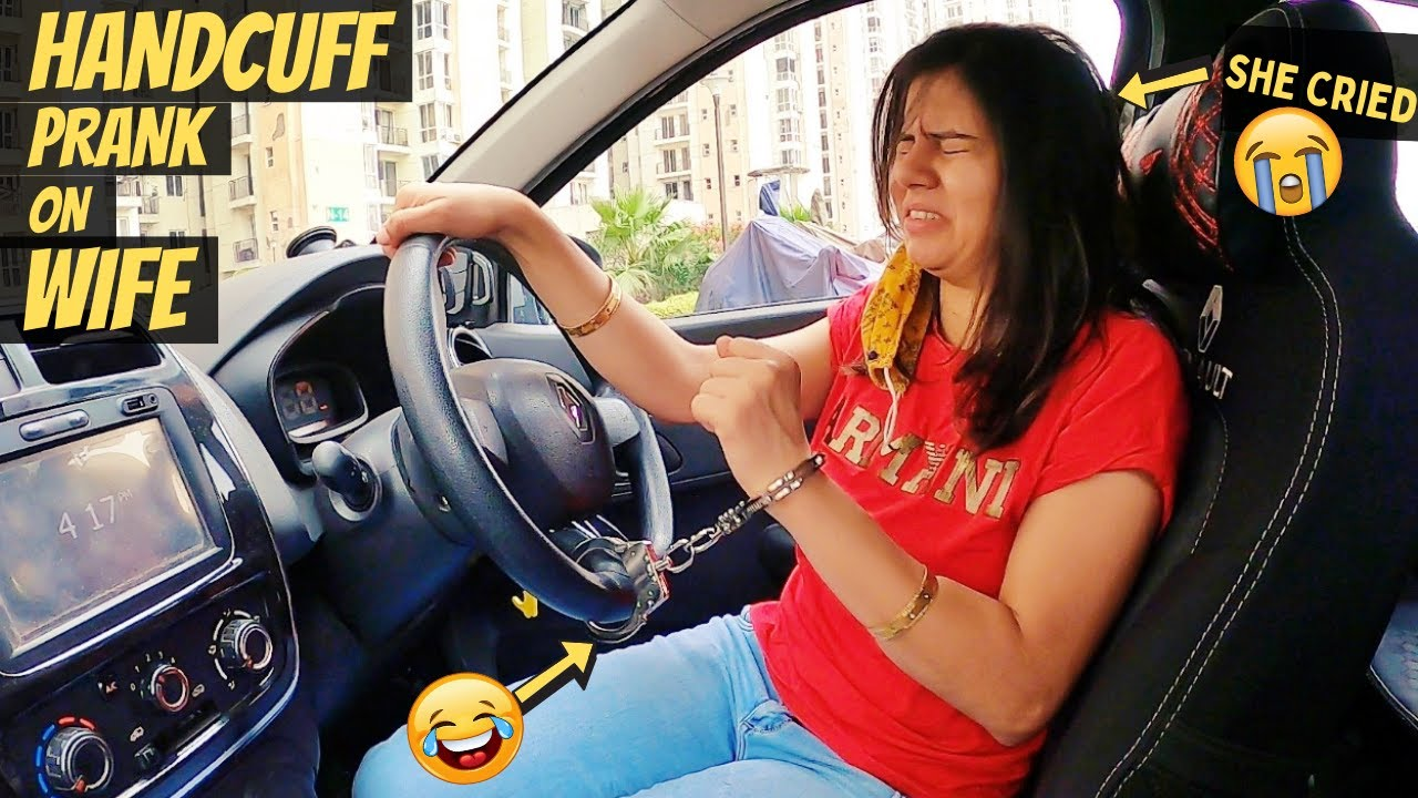HANDCUFF PRANK ON WIFE GONE WRONG!!! (SHE CRIED)