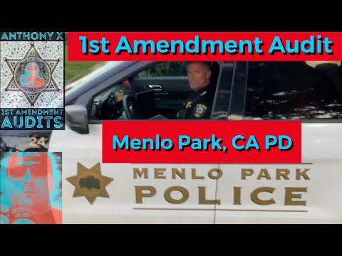 1st Amendment Audit Menlo Park, CA Police Department.