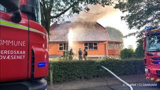 24.07.2019 - Voldsom brand i villa - Stenderup