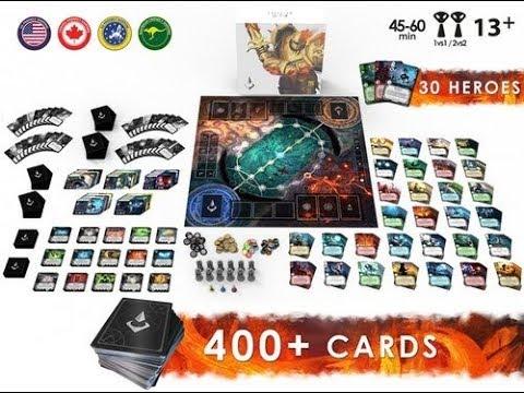 ELO Darkness, MOBA inspired board game - Board Game Spotlight