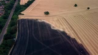 Knebworth crop fire drone footage by Mark West