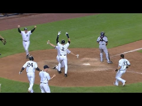 Yanks win in an unusual walk-off