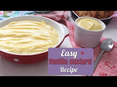 How To Make Simple Vanilla Custard - Recipe | Daniella's Home Cooking