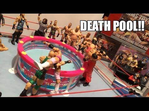 GTS WRESTLING: Dead Pool! WWE Figure Matches Animation! Mattel Elite Action Figure Toys