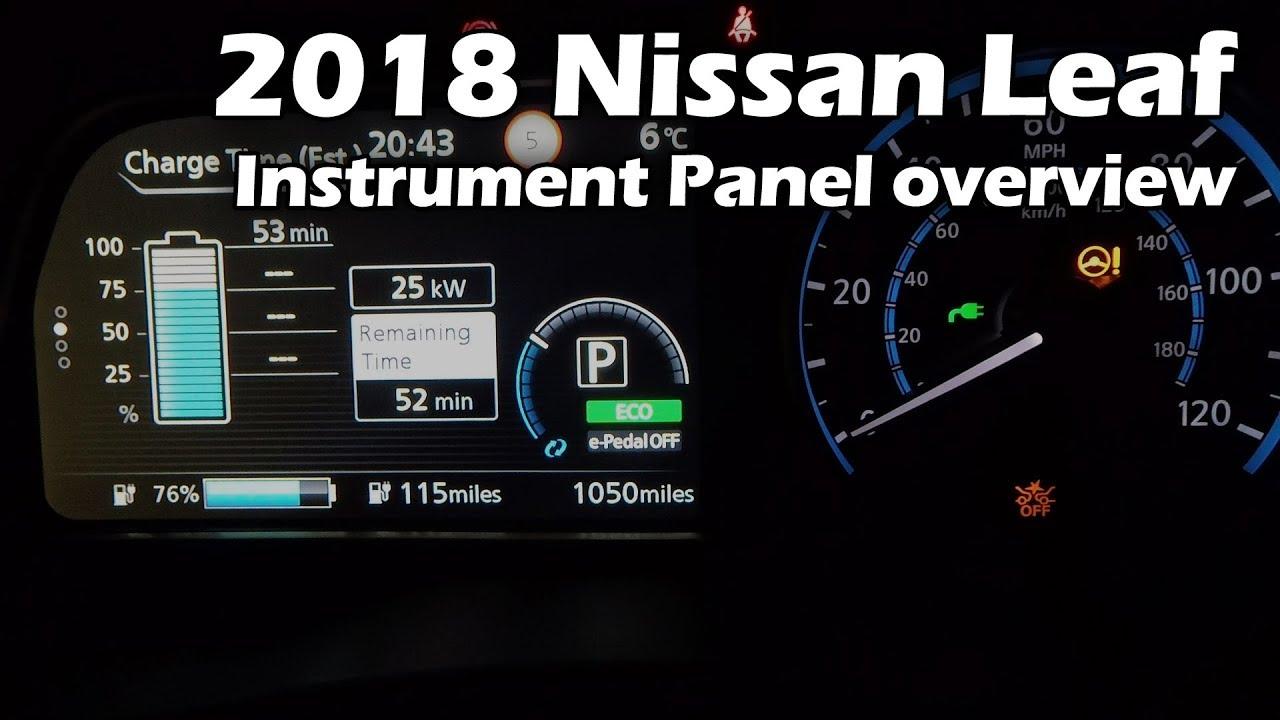2018 Nissan Leaf 2zero Instrument Panel Overview Youtube