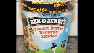 Ben & Jerry's: Peanut Butter Brownie Sundae Ice Cream Review