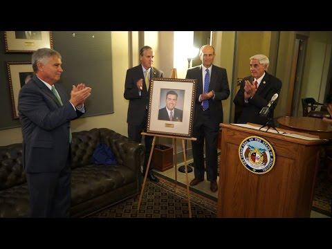 Senator Tom Dempsey's Portrait Unveiled in the Hall of the Senate President Pro Tem