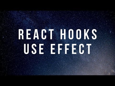 React Hooks - Use Effect - React Tutorial thumbnail
